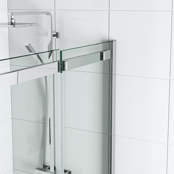 Mode elite 10mm frameless sliding shower door 1200mm for 1200mm shower door sliding