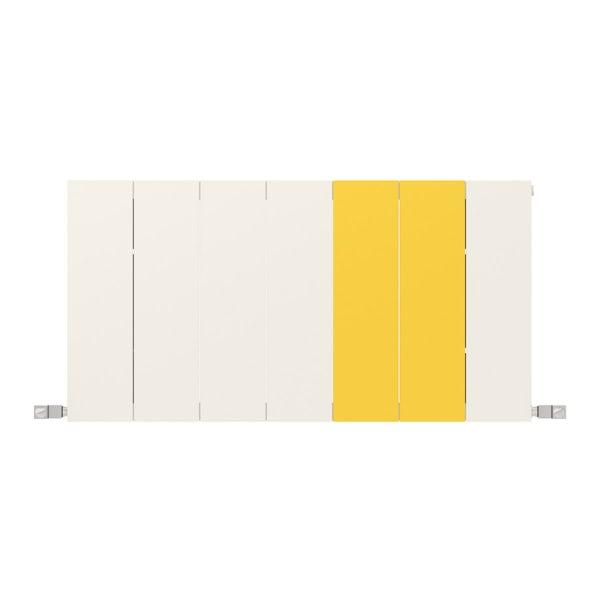 Neo soft white and zinc yellow horizontal radiator 545 x 1050