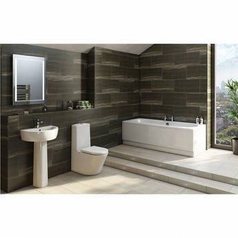 Mode Tate bathroom suite with contemporary double ended bath