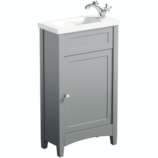 Camberley Grey cloakroom vanity with resin basin