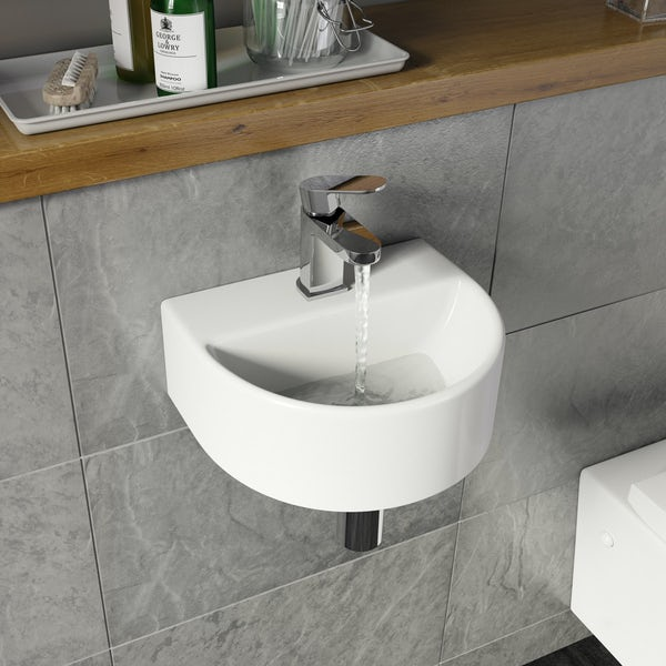 Pichola wall hung basin with waste