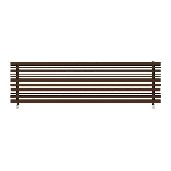 Sherwood terra brown horizontal radiator 440 x 1600