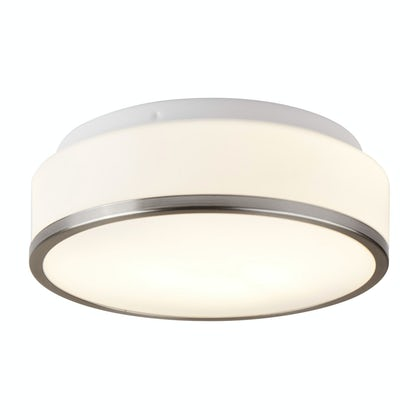 Searchlight Discs satin flush bathroom ceiling light