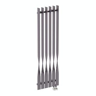 Cyklon modern grey vertical radiator 1600 x 495