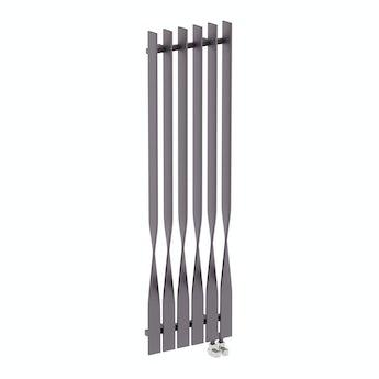 Terma Cyklon modern grey vertical radiator 1600 x 495