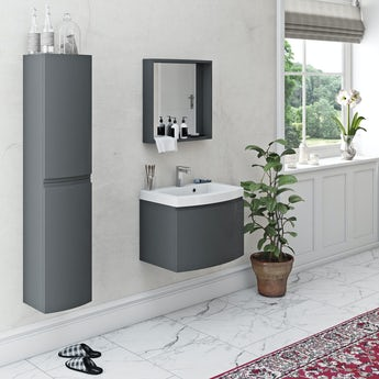 Mode Harrison slate furniture set with wall hung vanity unit 600mm