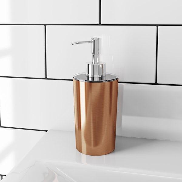 Glaze copper soap dispenser