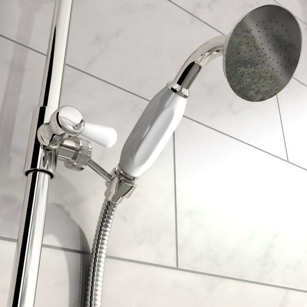 The Bath Co. Dulwich rain can shower head riser shower system