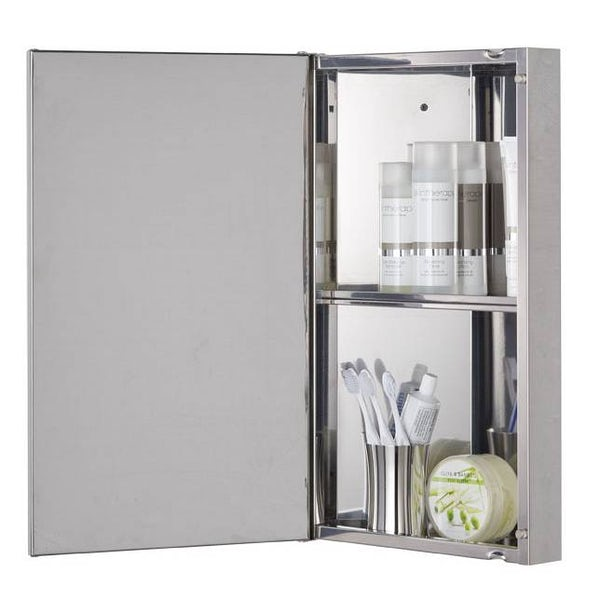Radial Stainless Steel Corner Cabinet