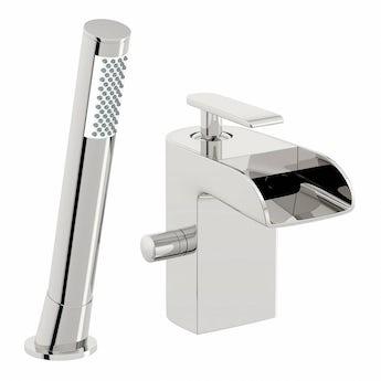 Mode Reinosa waterfall bath shower mixer tap offer pack