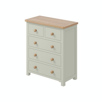 MFI Rome oak and mellow sage 2 over 3 drawer chest