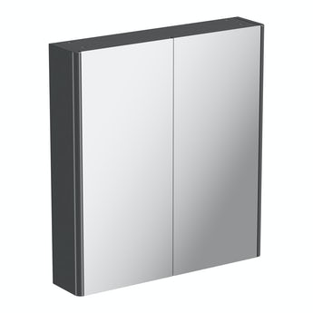 Mode slate curved mirror cabinet 600mm
