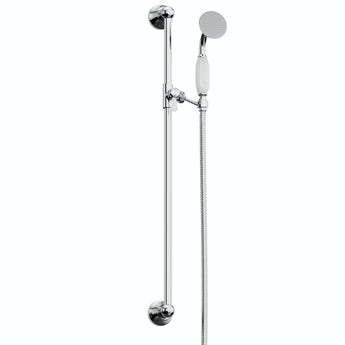Traditional sliding shower rail kit