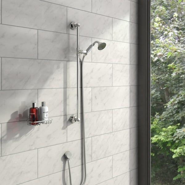 The Bath Co. Traditional sliding shower rail kit