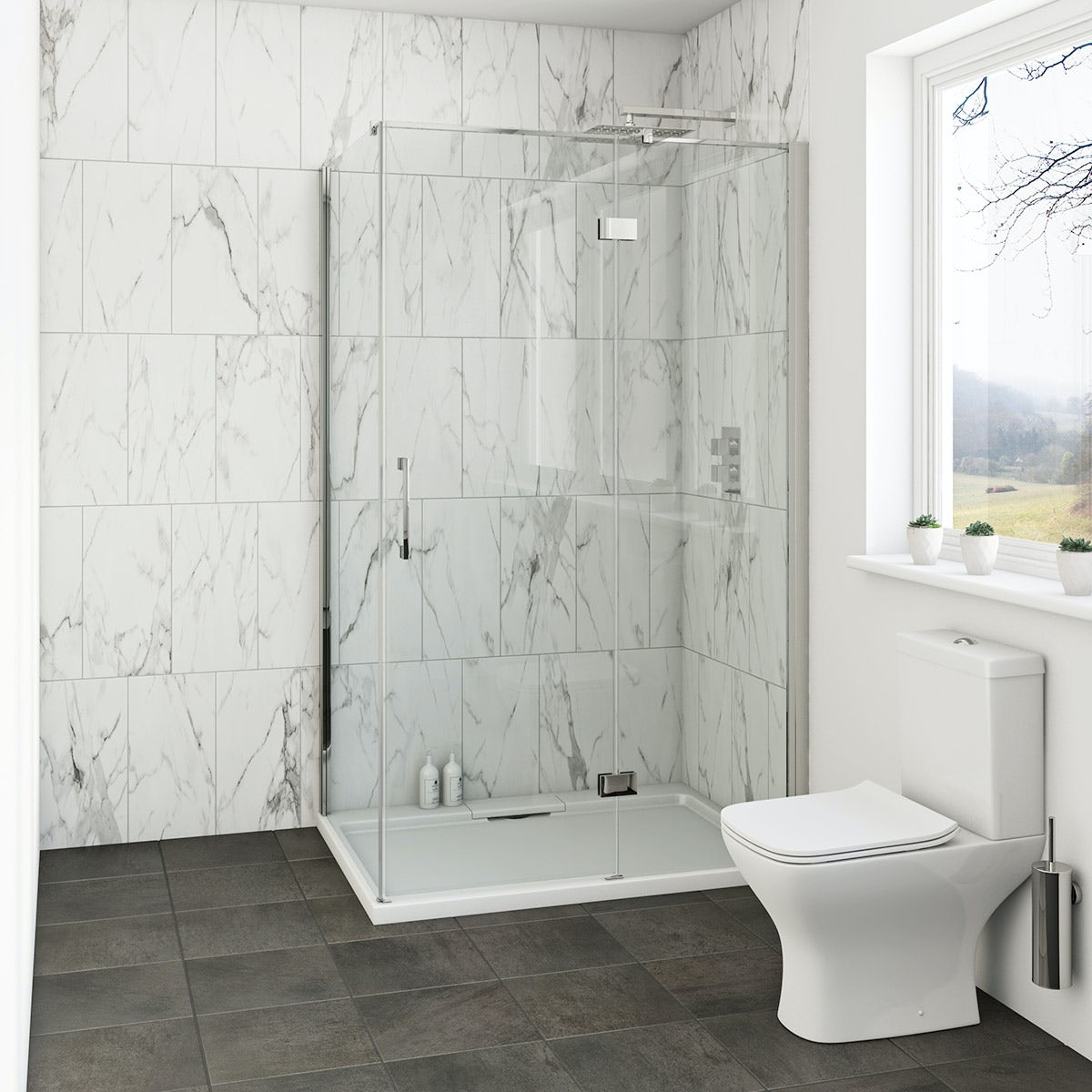 Mode Cooper 8mm hinged easy clean shower enclosure 1200 x 800