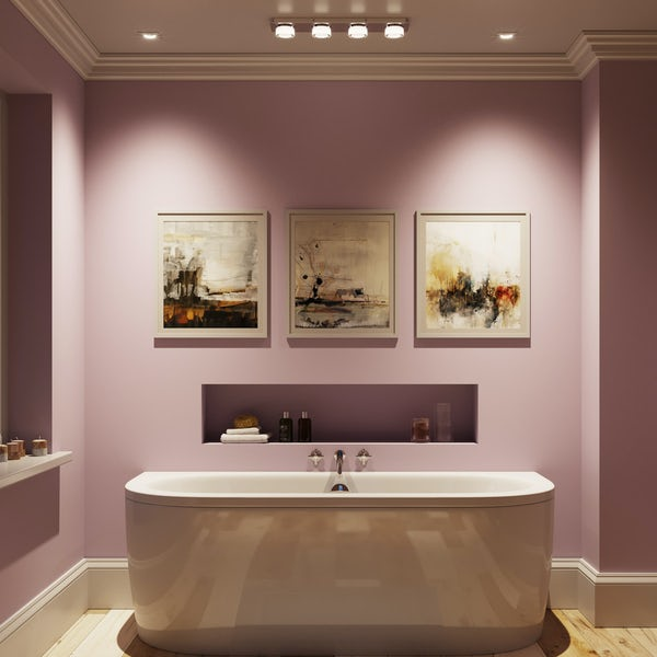 Forum Volana 4 light flush bathroom bar ceiling light