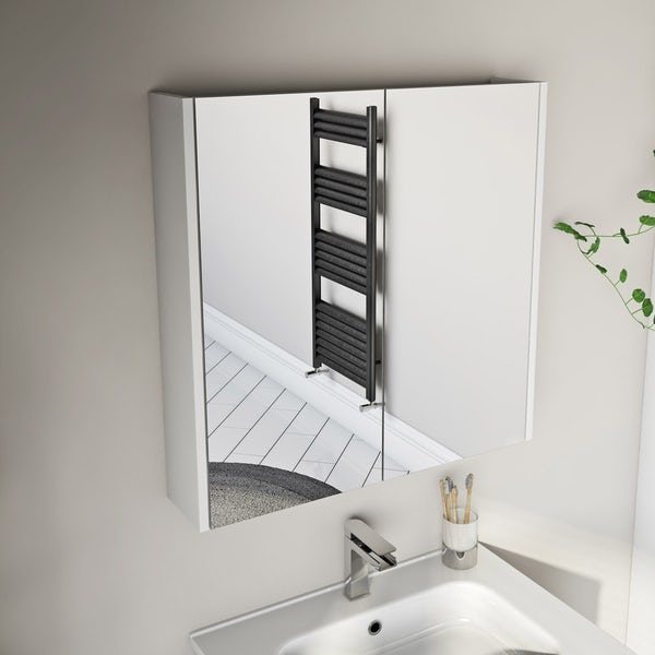 Mode Cooper white vanity unit 600mm and mirror offer