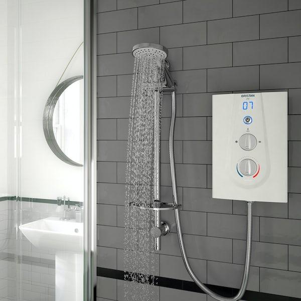 Bristan Joy 8.5kw thermostatic electric shower white