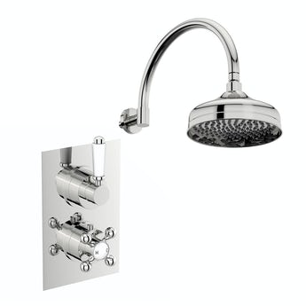 The Bath Co. Antonio thermostatic shower valve with wall shower set