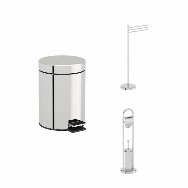 Options Stainless Steel Bathroom Organiser Set
