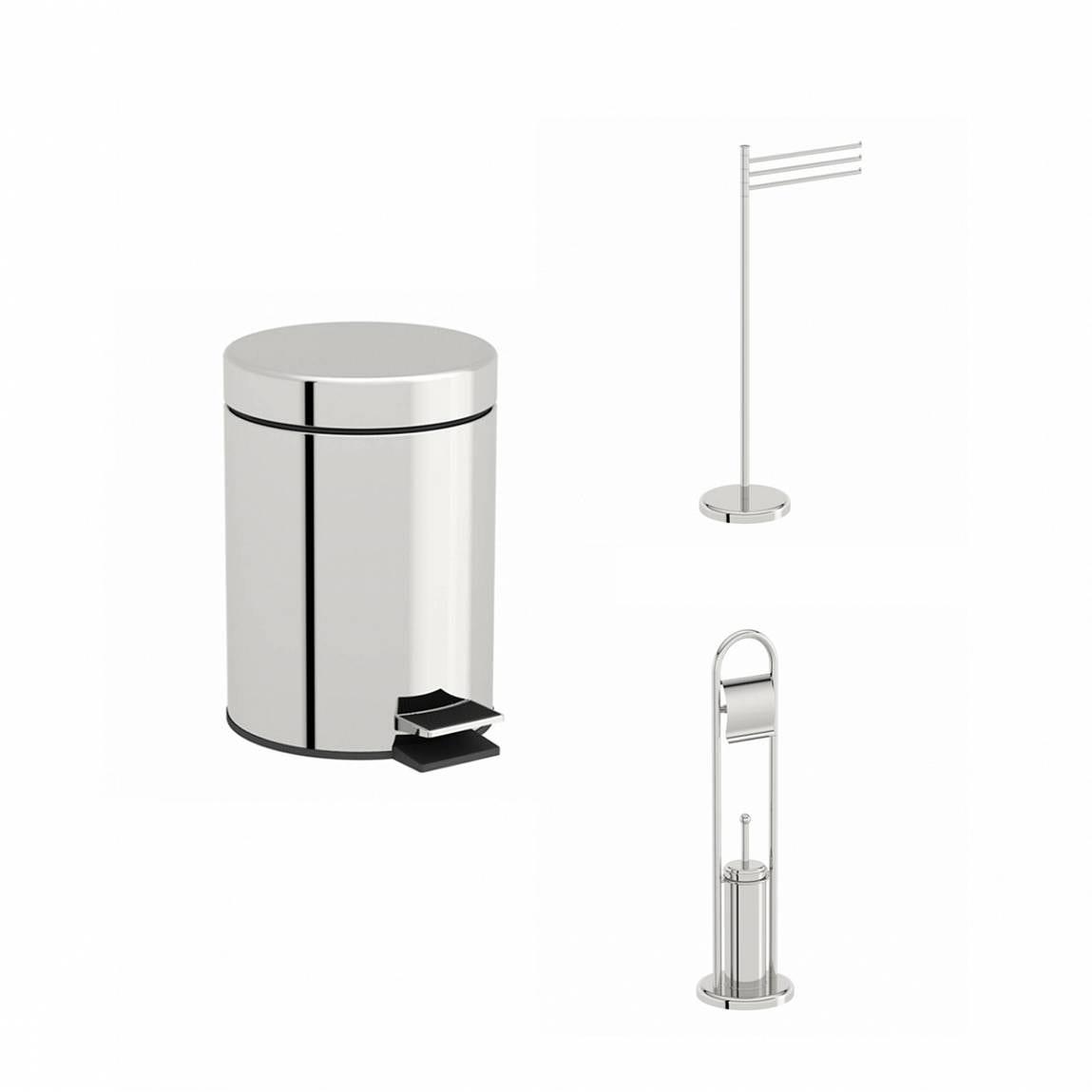 Orchard Options stainless steel bathroom organiser set