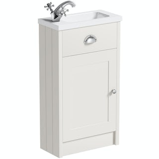 The Bath Co. Dulwich ivory cloakroom vanity with basin 450mm