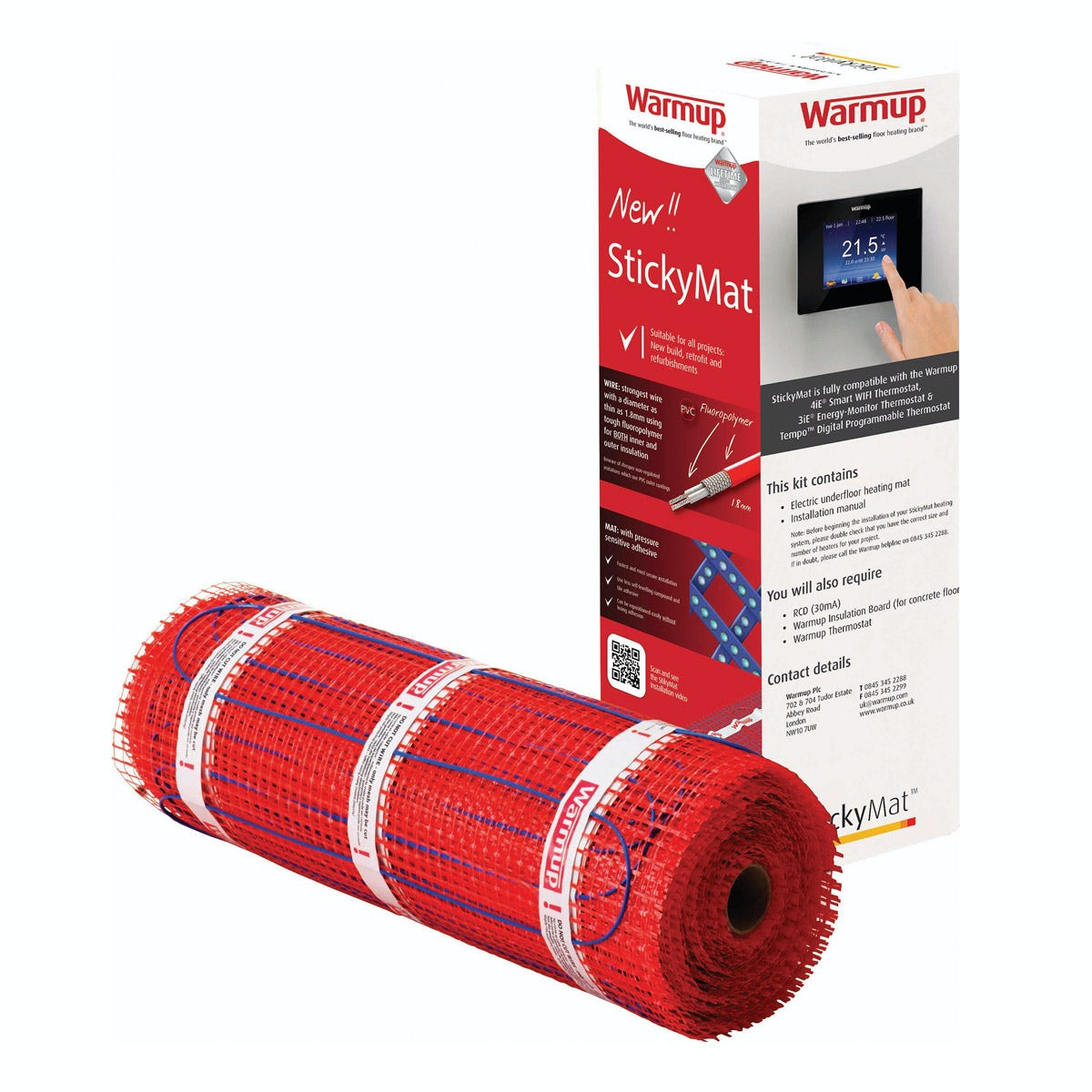 Warmup StickyMat underfloor heating mat 150w