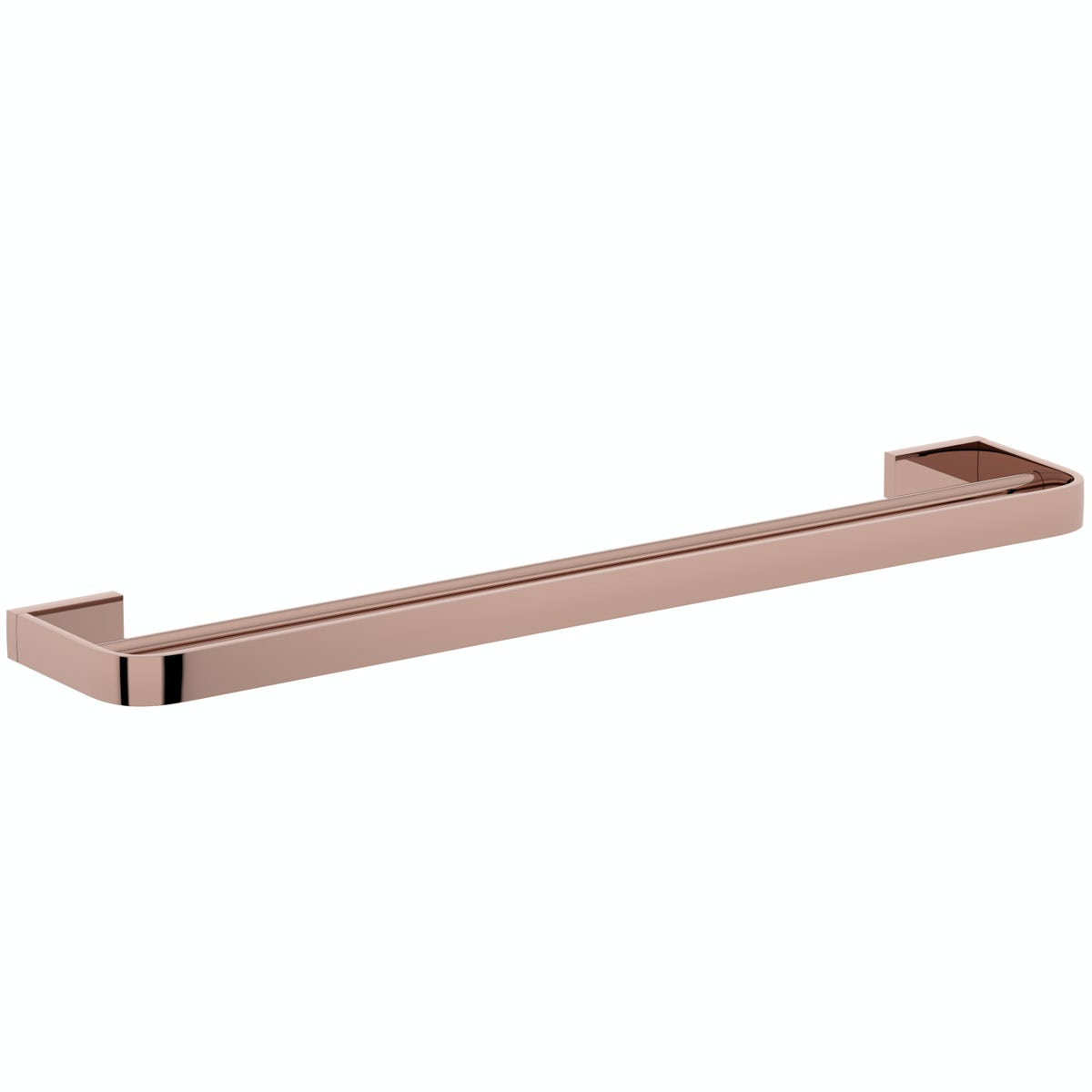 Mode Spencer rose gold double towel rail 600mm