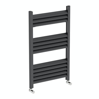 Mode Carter charcoal black heated towel rail 800 x 500