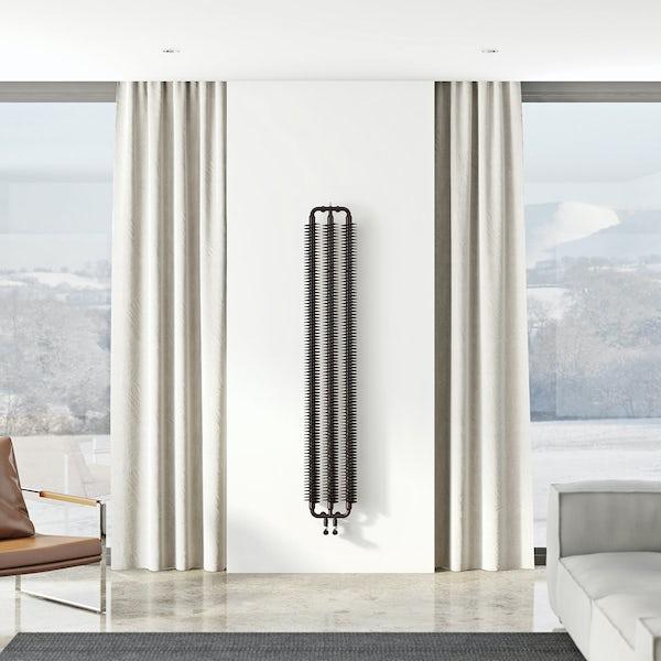 Terma Ribbon meteor black vertical radiator 1720 x 290