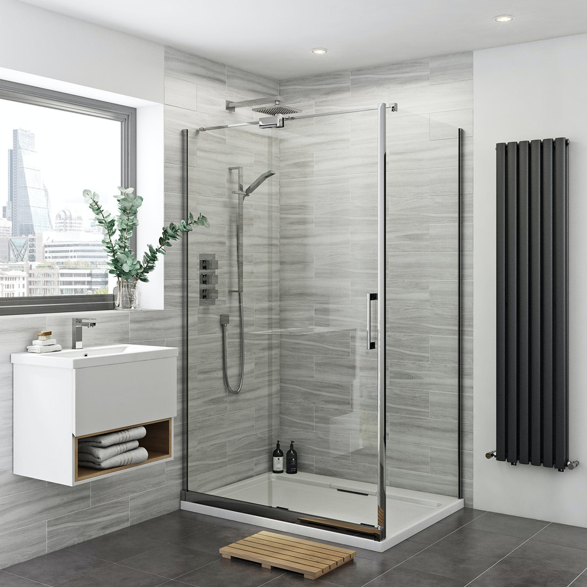 Mode Carter premium 8mm easy clean left handed shower enclosure 1400 x 900