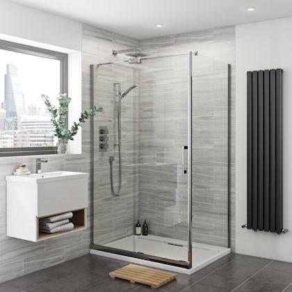 Carter 8mm easy clean left handed sliding shower enclosure