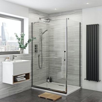 Carter 8mm easy clean left handed sliding shower enclosure