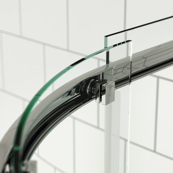 Mode Harrison 8mm easy clean quadrant shower enclosure