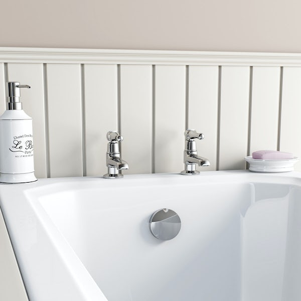 The Bath Co. Camberley lever basin pillar taps