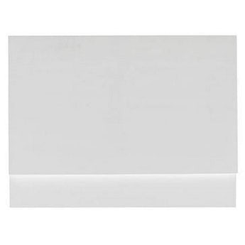 Orchard White wooden straight bath end panel 700mm