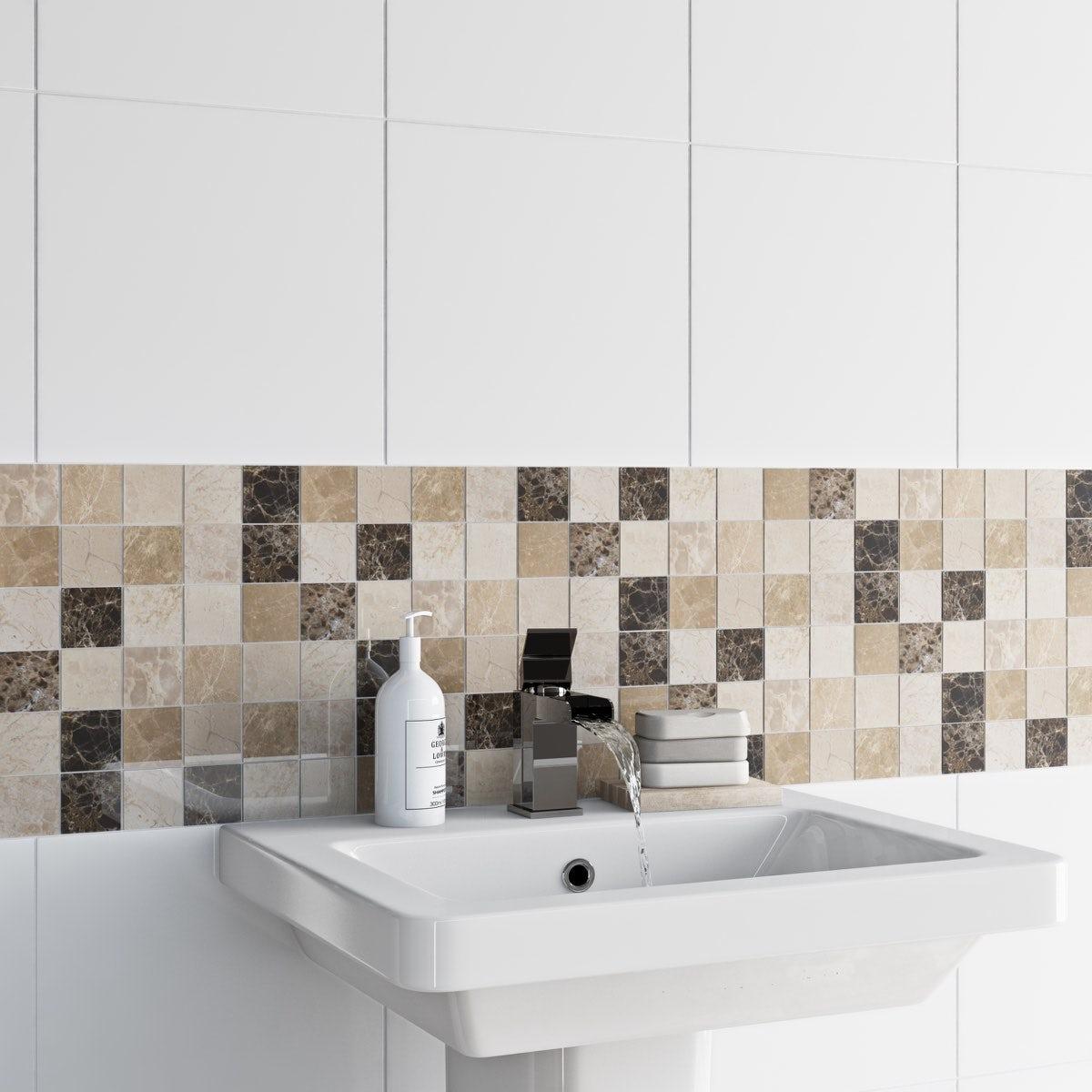 British ceramic tile mosaic rock beige gloss tile 305mm x 305mm british ceramic tile mosaic rock beige gloss tile 305mm x 305mm 1 sheet dailygadgetfo Images