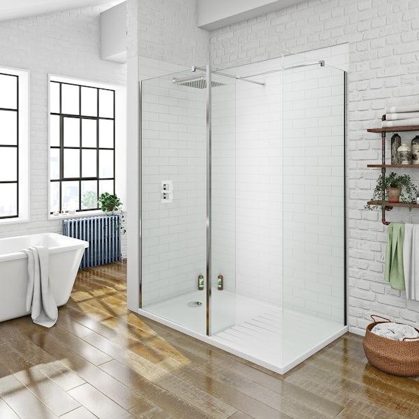 8mm Walk in Shower Enclosure Pack 1400 x 900
