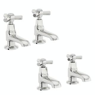 The Bath Co. Beaumont basin and bath pillar tap pack