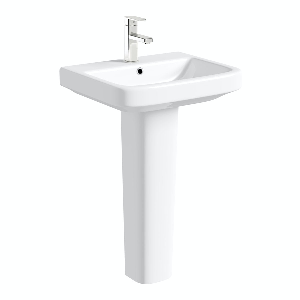 Mode Carter full pedestal basin 550mm with waste