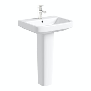 Mode Ive full pedestal basin 550mm