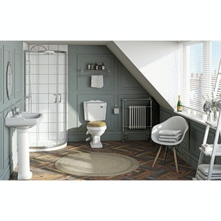 Winchester Bathroom set with Quadrant Enclosure 800 & Tray