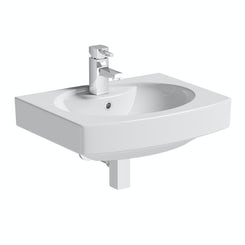 Vermont 1 tap hole wall hung basin 555mm