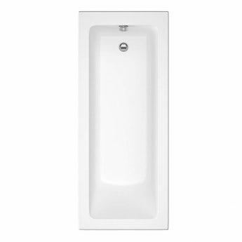Eden square edge single ended straight bath 1700 x 700 with acrylic front panel