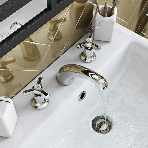 The Bath Co. Beaumont 3 hole basin mixer tap