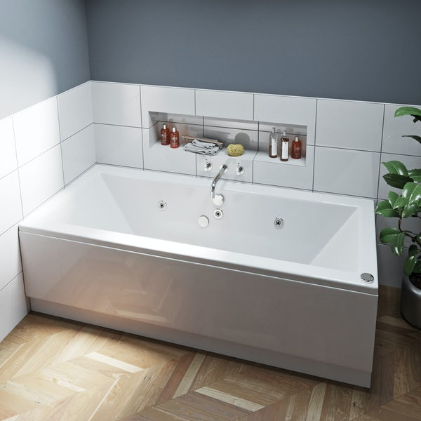 Mode Chelsea double end 6 jet whirlpool bath 1800 x 800