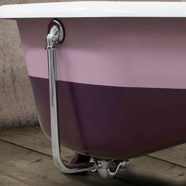 Traditoinal bath waste in chrome finish