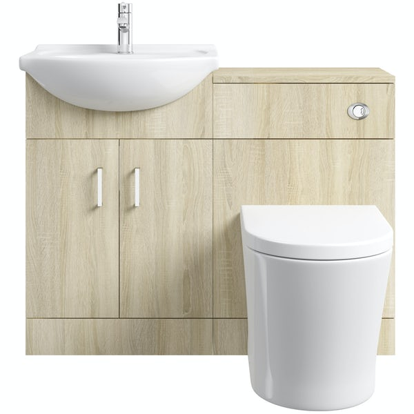 Eden oak 1040 combination with Mode Arte back to wall toilet