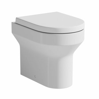 Oakley back to wall toilet with soft close toilet seat