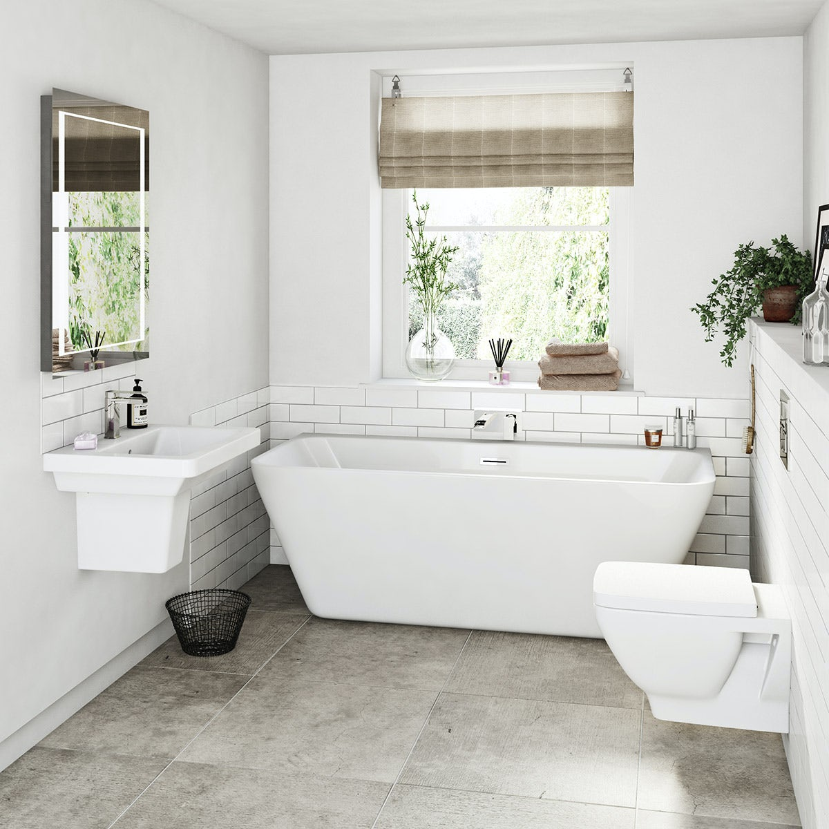 Mode Cooper bathroom suite with back to wall bath ...
